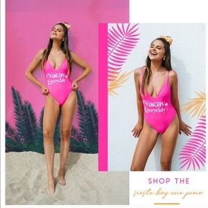 NWT Show Me Your Mumu Pink Vacay one piece swim